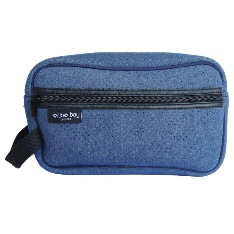 COSMETIC Bag Neoprene - DENIM-Willow Bay