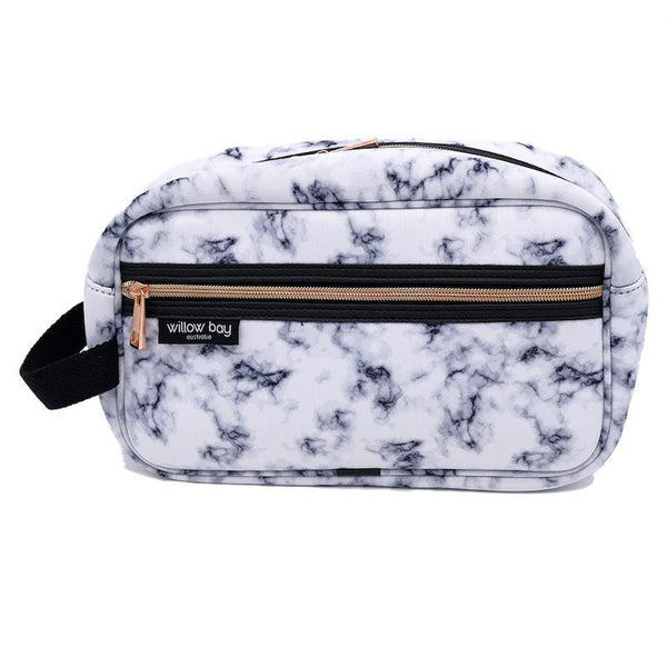 COSMETIC Bag Neoprene - MARBLE-Willow Bay