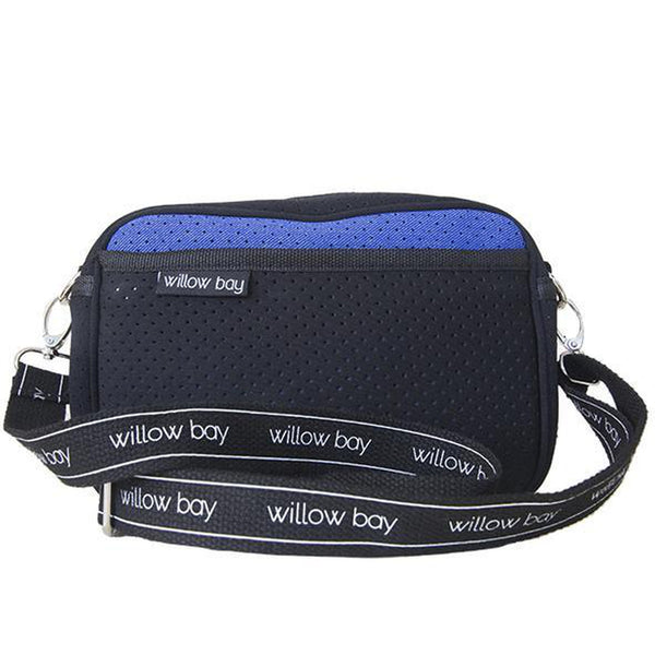 CROSSBODY Neoprene Bag - BLUE DENIM/BLACK-Willow Bay