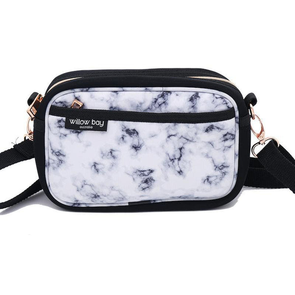 CROSSBODY Neoprene Bag - MARBLE-Willow Bay