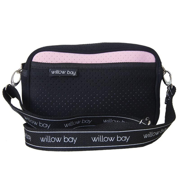 CROSSBODY Neoprene Bag - PINK/BLACK-Willow Bay