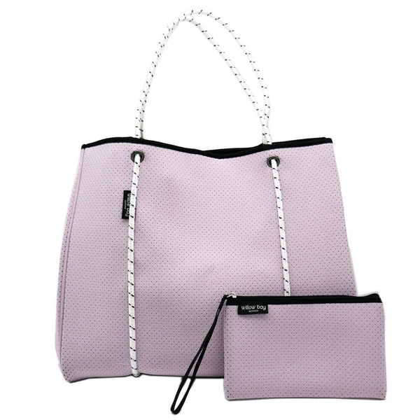 DAYDREAMER LARGE Neoprene Tote Bag with Closure - SOFT LILAC-Willow Bay Australia