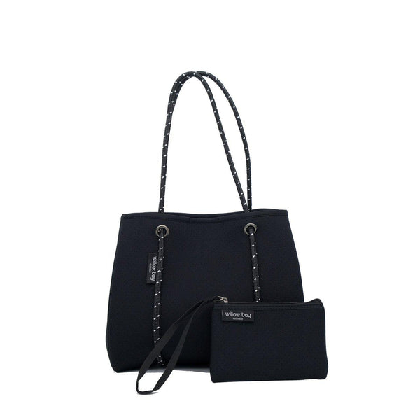 DAYDREAMER MINI Neoprene Tote with Closure - BLACK-Willow Bay
