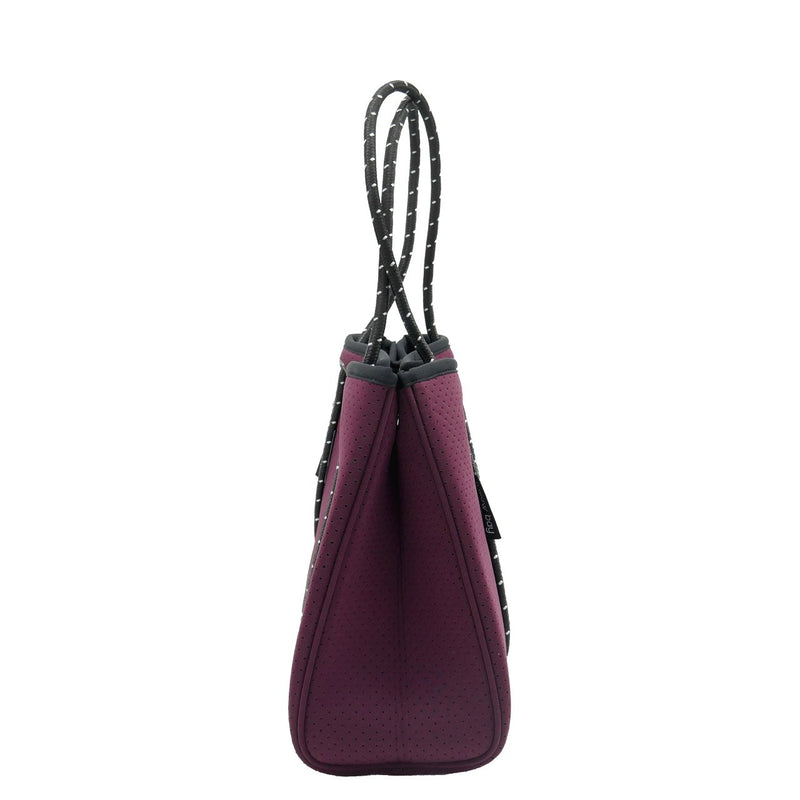 DAYDREAMER MINI Neoprene Tote Bag With Closure - BURGUNDY-Willow Bay Australia