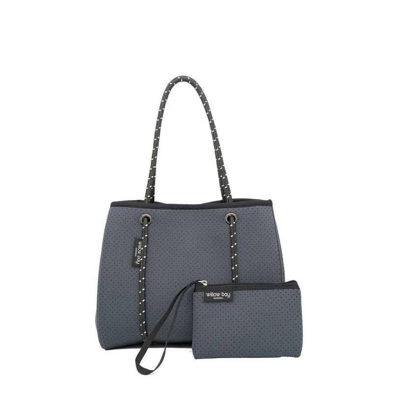 DAYDREAMER MINI Neoprene Tote with Closure - CHARCOAL-Willow Bay