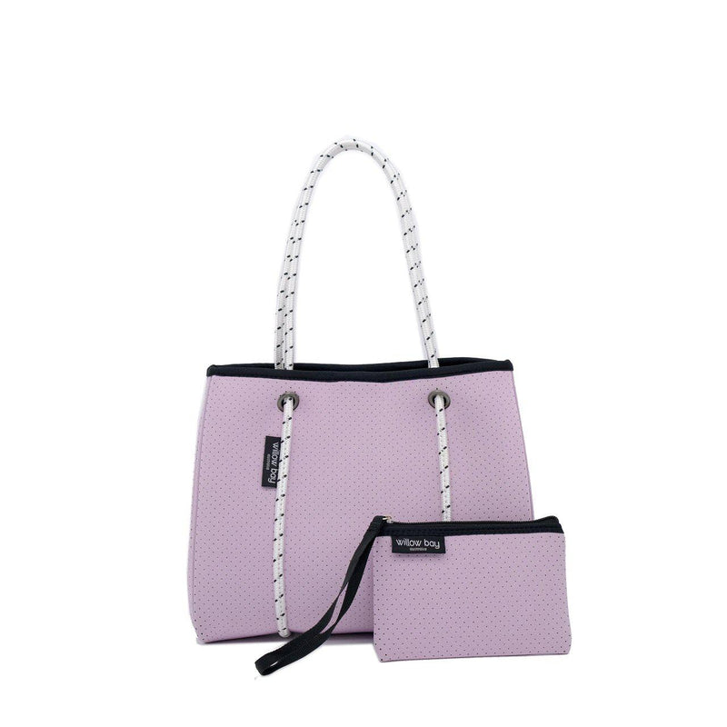 DAYDREAMER MINI Neoprene Tote with Closure - SOFT LILAC-Willow Bay