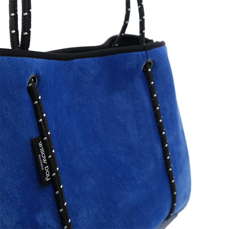 DAYDREAMER Neoprene Tote with Closure - ELECTRIC BLUE VELVET-Tote Bag-Willow Bay Australia