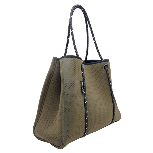 DAYDREAMER Neoprene Tote Bag With Closure - OLIVE-Willow Bay Australia
