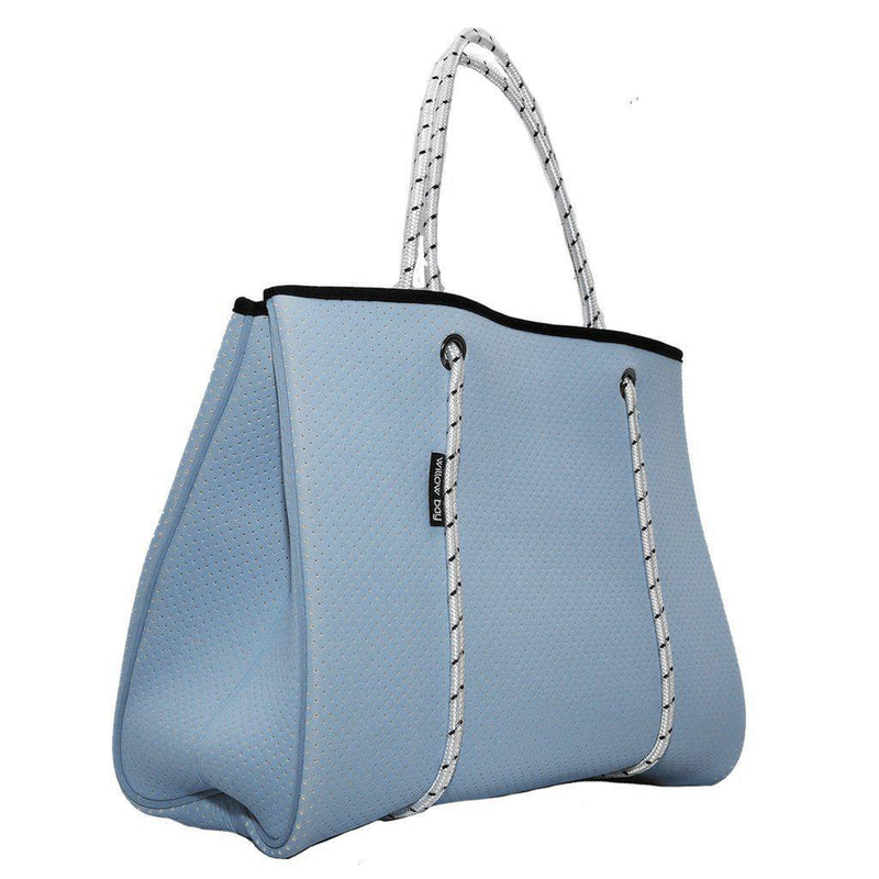 DAYDREAMER Neoprene Tote with Closure - SKY BLUE-Tote Bag-Willow Bay Australia