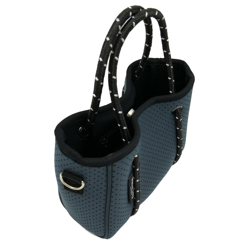 DAYDREAMER TINY Neoprene Tote Bag With Closure - CHARCOAL-Willow Bay Australia