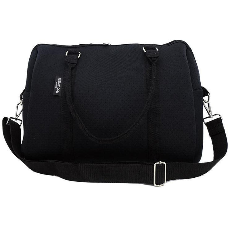 EXPRESS DUFFEL Neoprene Bag - BLACK-Willow Bay