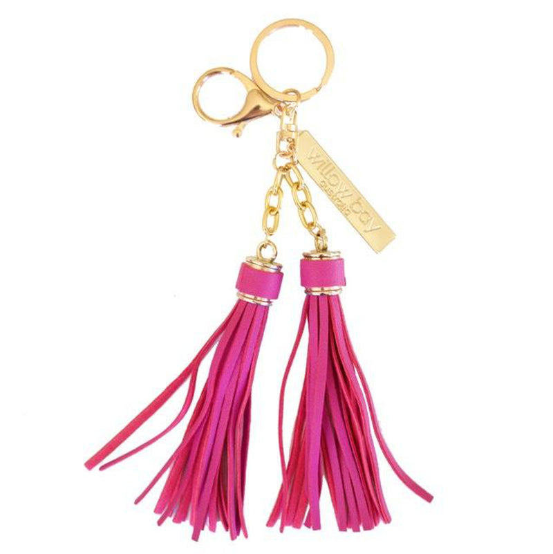 KEYCHAIN Tassel - DARK PINK-Willow Bay