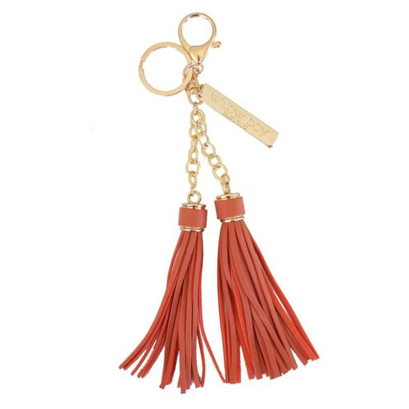 KEYCHAIN Tassel - ORANGE-Willow Bay