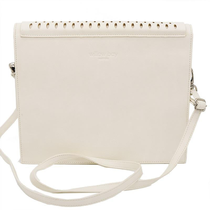 BOHO IPAD CROSSBODY Faux Leather - ANTIQUE WHITE-Crossbody-Willow Bay Australia