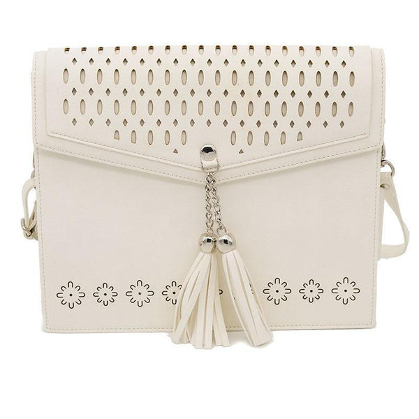 KIDS BOHO IPAD CROSSBODY Faux Leather - ANTIQUE WHITE-Willow Bay