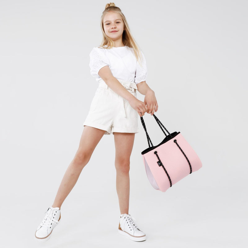 KIDS DAYDREAMER NEOPRENE TOTE BAG - Pink/Soft Lilac-Willow Bay Australia
