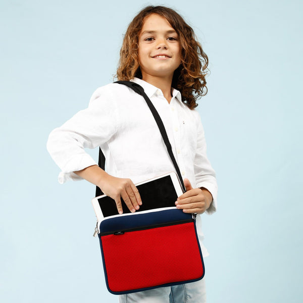 KIDS IPAD BAG - Navy/Red-Willow Bay Australia