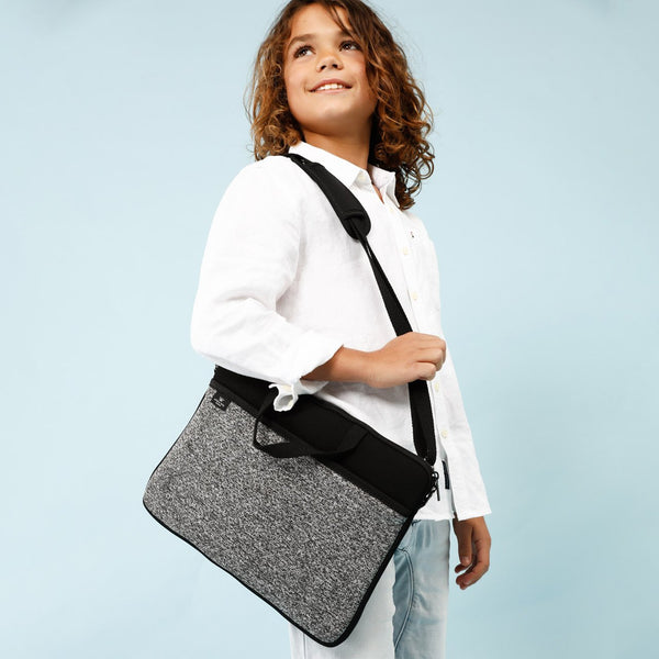 KIDS MINI LAPTOP BAG - Black/Marle-Willow Bay Australia