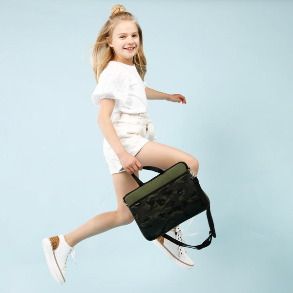 KIDS MINI LAPTOP BAG - Khaki/Camo-Willow Bay Australia