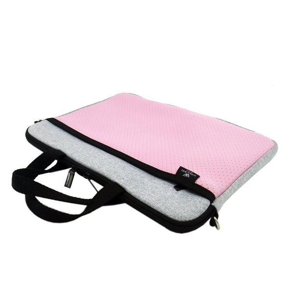 KIDS MINI LAPTOP BAG - Light Marle/Pink-Willow Bay Australia