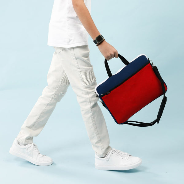 KIDS MINI LAPTOP BAG - Navy/Red-Willow Bay Australia