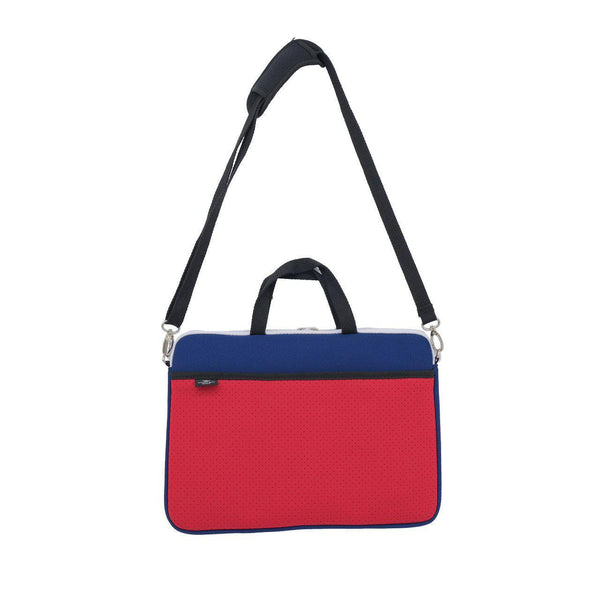 KIDS MINI LAPTOP BAG - Navy/Red-Willow Bay