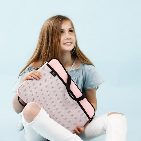 KIDS MINI LAPTOP BAG - Pink/Soft Lilac-Willow Bay Australia