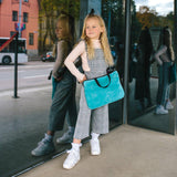 KIDS MINI LAPTOP BAG - Teal Velvet-Kids Laptop-Willow Bay Australia