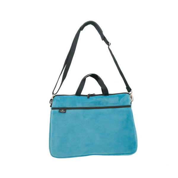 KIDS MINI LAPTOP BAG - Teal Velvet-Willow Bay
