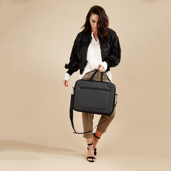 LAPTOP Bag Neoprene - BLACK DENIM-Laptop Bag-Willow Bay Australia