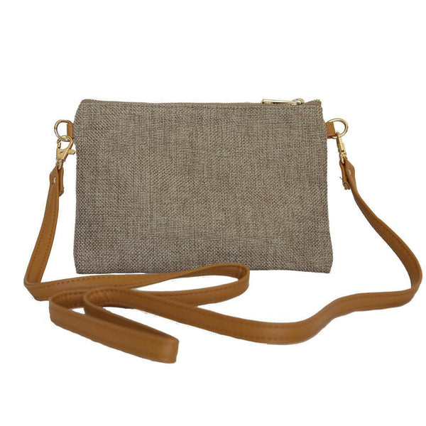LINEN/COTTON Shoulder Bag - NATURAL-Willow Bay