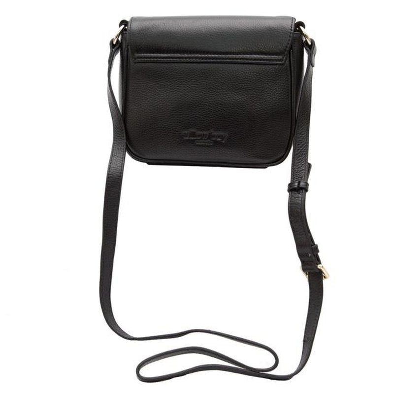 LUXE Leather Saddle Shoulder Bag - BLACK-Crossbody-Willow Bay Australia