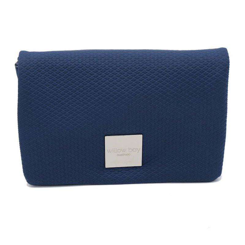 LUXE Neoprene Crossbody/Clutch - NAVY-Crossbody-Willow Bay Australia
