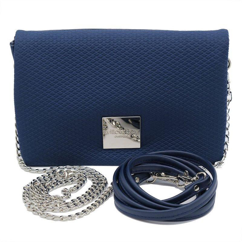 LUXE Neoprene Crossbody/Clutch - NAVY-Willow Bay