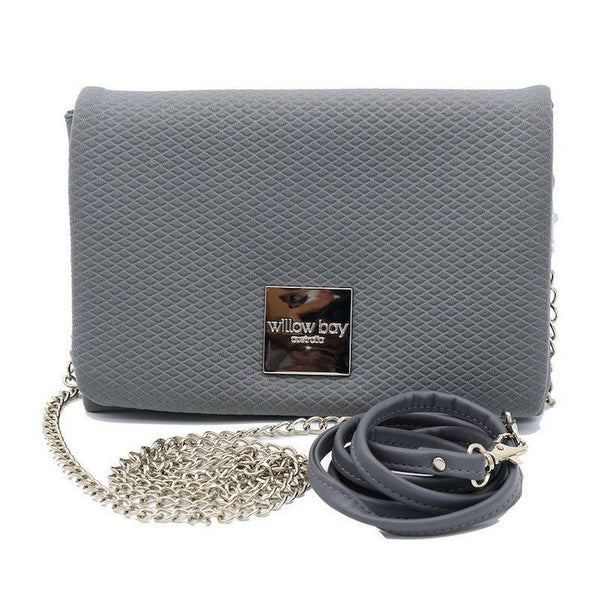 LUXE Neoprene Crossbody/Clutch - SLATE-Willow Bay