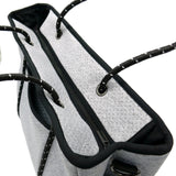 METRO Neoprene Tote Bag With Zip - LIGHT MARLE-Willow Bay Australia