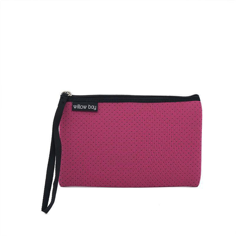 POUCH NEOPRENE ZIP CLOSURE - Assorted colours-Willow Bay Australia