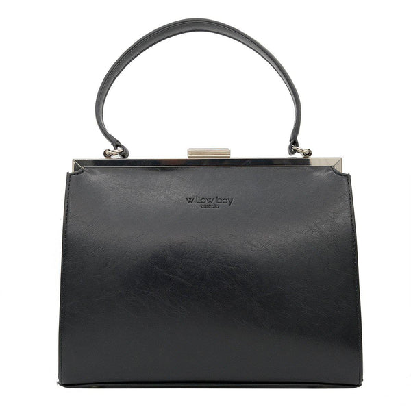 VINTAGE AUDREY HANDBAG - Black-Willow Bay