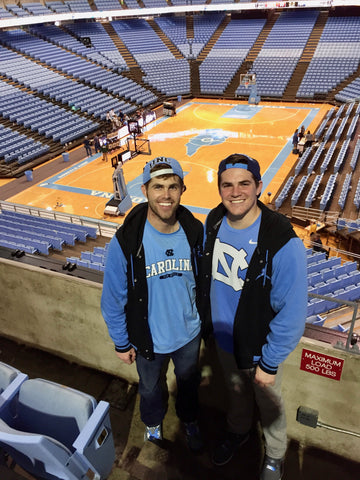 Watching the Tar Heels in Chapel Hill!