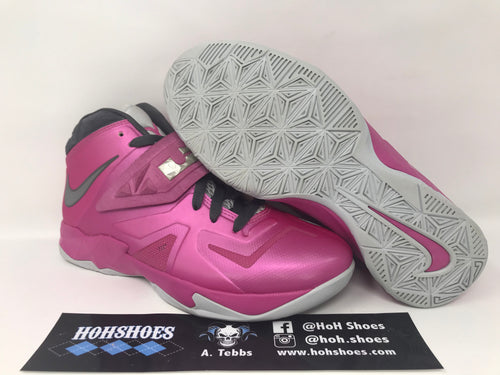 VNDS Nike Lebron Soldier 7 VII Think Pink 599818-600 Size 7Y