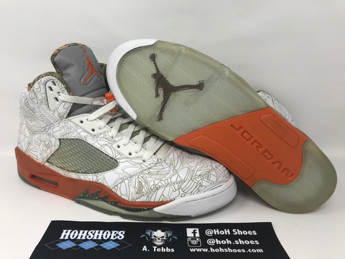 new arrival afa03 ede14 Air Jordan 5 V Laser 315739-131 Size 12 with OG box