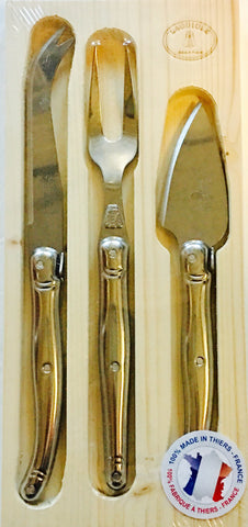 Laguiole Jean Dubost Stainless Cheese and Charcuterie Serving Set of 3 Thiers France