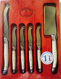 Laguiole Jean Dubost Cheese Knives Set of 6-Piece -Stainless Steel Thiers France