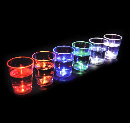 Aqua Glow - 6 Liquid Activated Shot Glasses