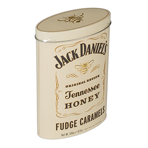 Jack Daniels Tennessee Honey Whiskey 10.5 Ounce Fudge Caramels in Decorative Tin