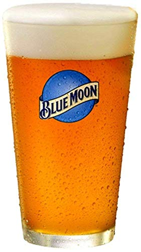 Blue Moon Beer Pint Glass | Set of 2 Glasses