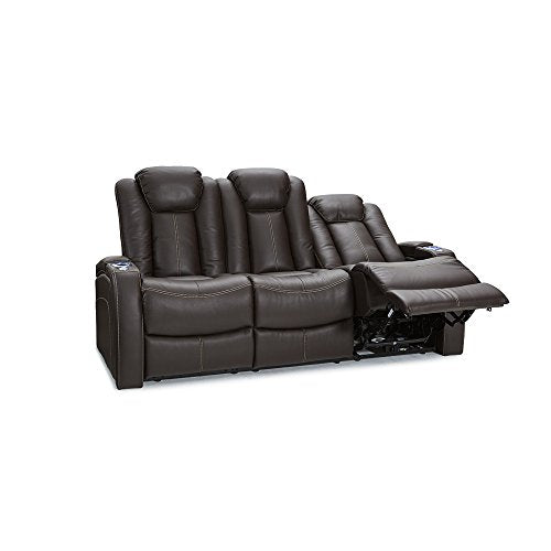 Lane Omega Leather Gel Home Theater Power Recline Multimedia Sofa