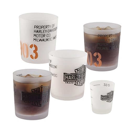 5-Pc. Harley-Davidson 1903 Glass Tumbler and Shot Glass Set- Start an H-D 1903 Collection
