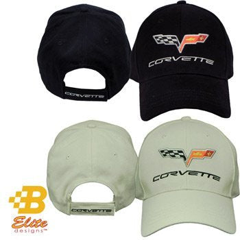 C6 Corvette Premium Brushed Cotton Hat Bone