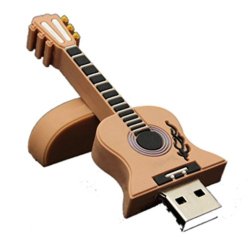 Bolayu 8GB U Disk Thumb Guitar USB 2.0 Metal Flash Memory Stick Storage Khaki